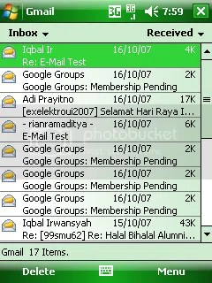 Gmail in PDA