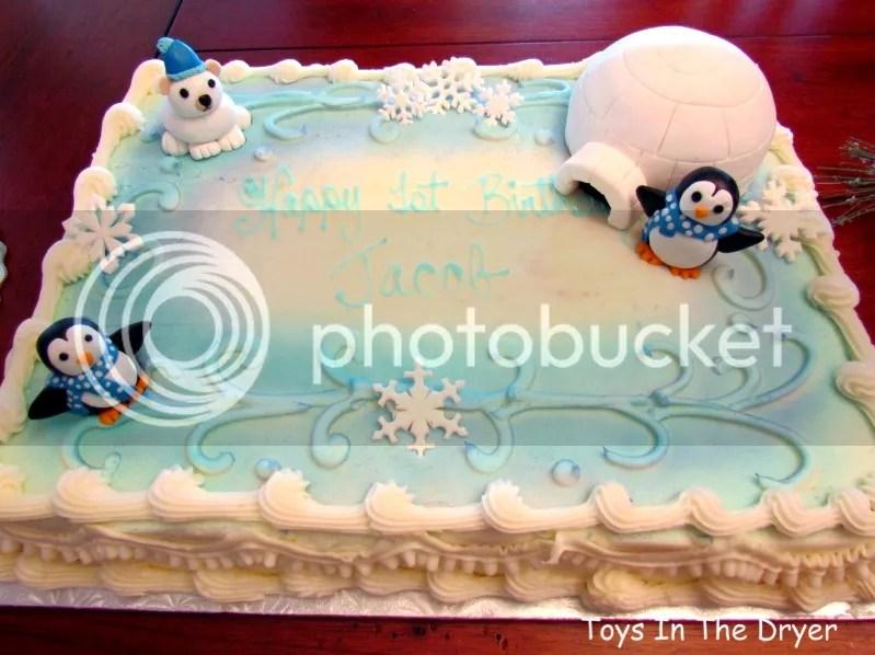 Snowflake Themed Birthday Cakes