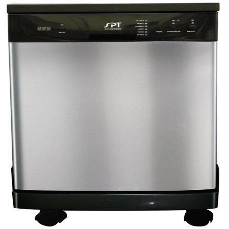 "Sunpentown 18"" Portable Energy Star Dishwasher in Stainless Steel"