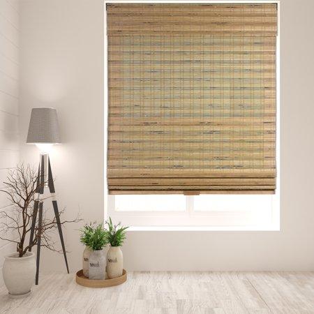 Arlo Blinds Cordless Tuscan Bamboo Roman Shade Size 30
