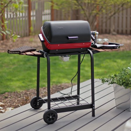 Meco 1500-Watt Electric Grill with Folding Side Tables