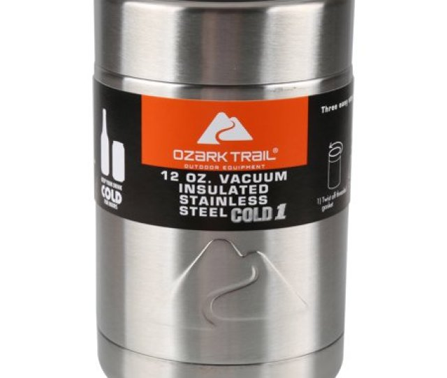 Ozark Trail  Ounce Vacuum Insulated Can Cooler With Metal Gasket
