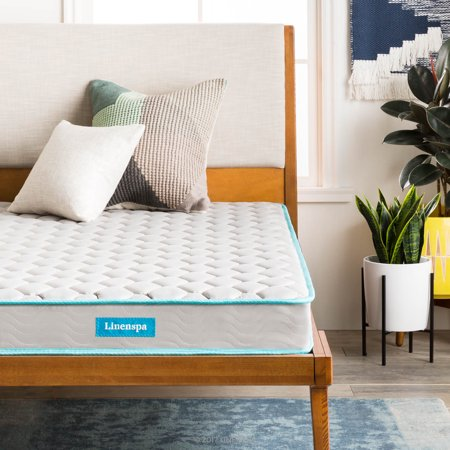 Linenspa 6 Inch Traditional Innerspring Mattress-in-a-Box
