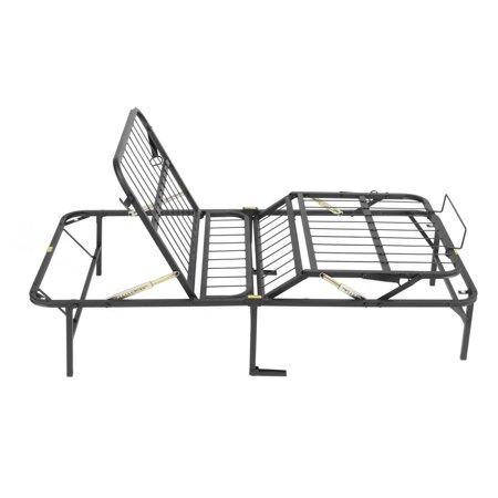 pragma simple adjust bed frame head and foot multiple sizes walmart com
