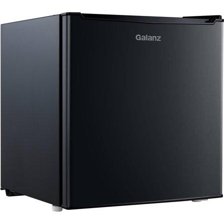 Galanz 1.7 Cu Ft Single Door Mini Fridge GL17BK, Black