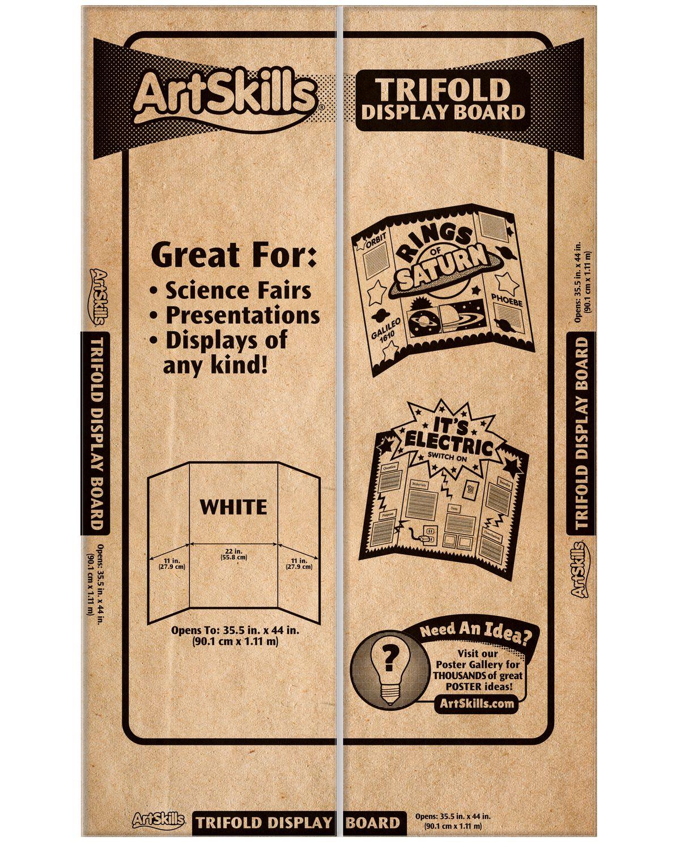 artskills large tri fold display board