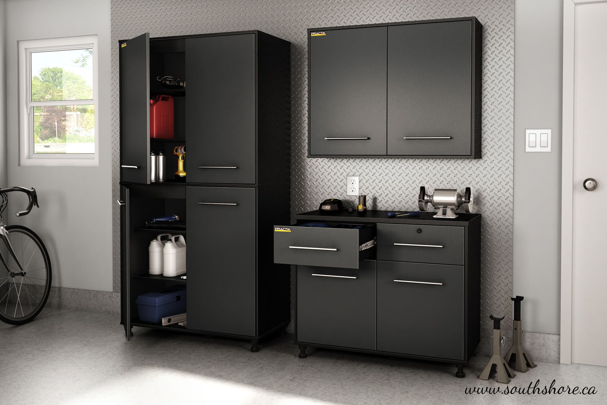 south shore karbon storage cabinet pure black