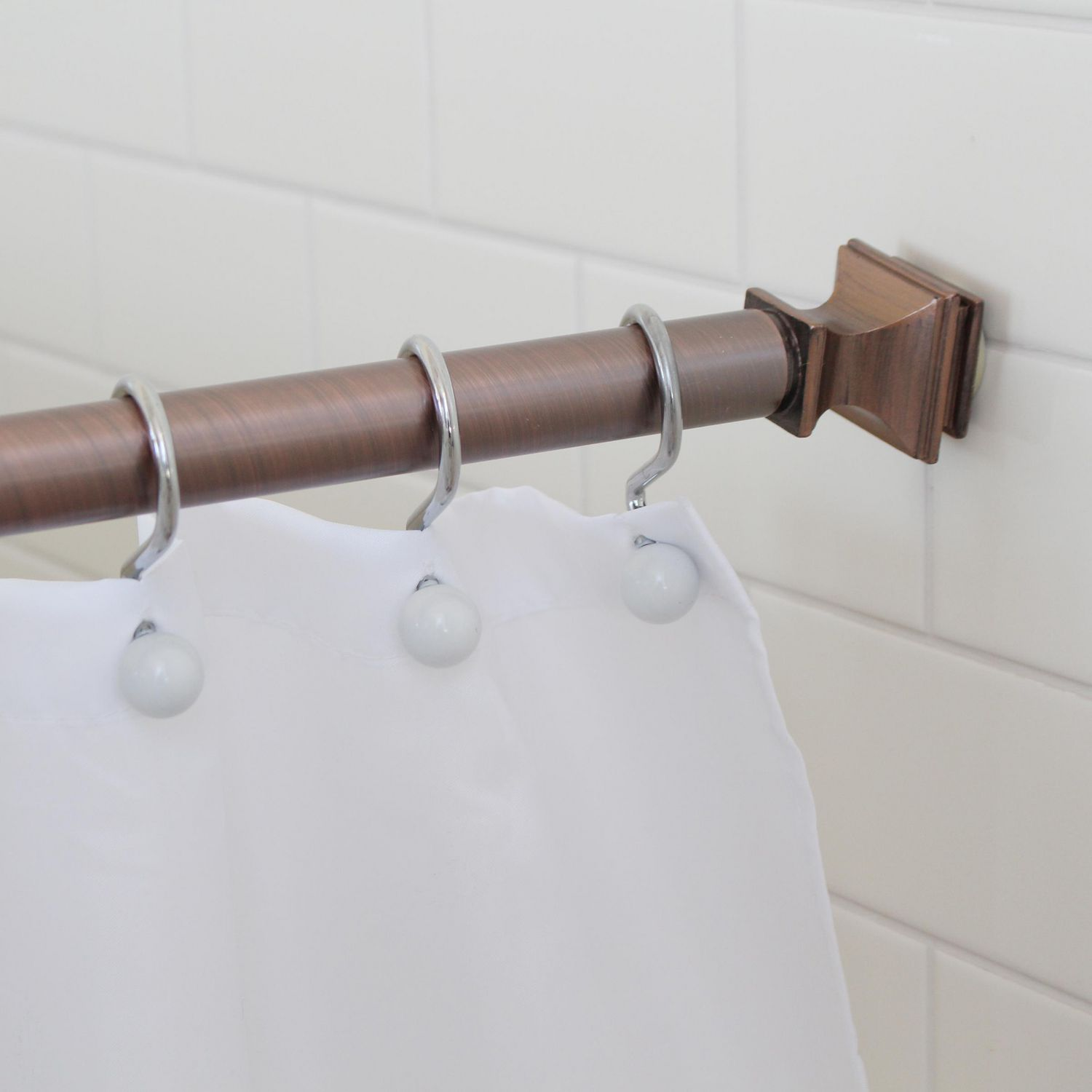 tringle a rideau de douche decorative pour salle de bain a tenue constante et a tension constante resistant a la rouille splash home kare extensible