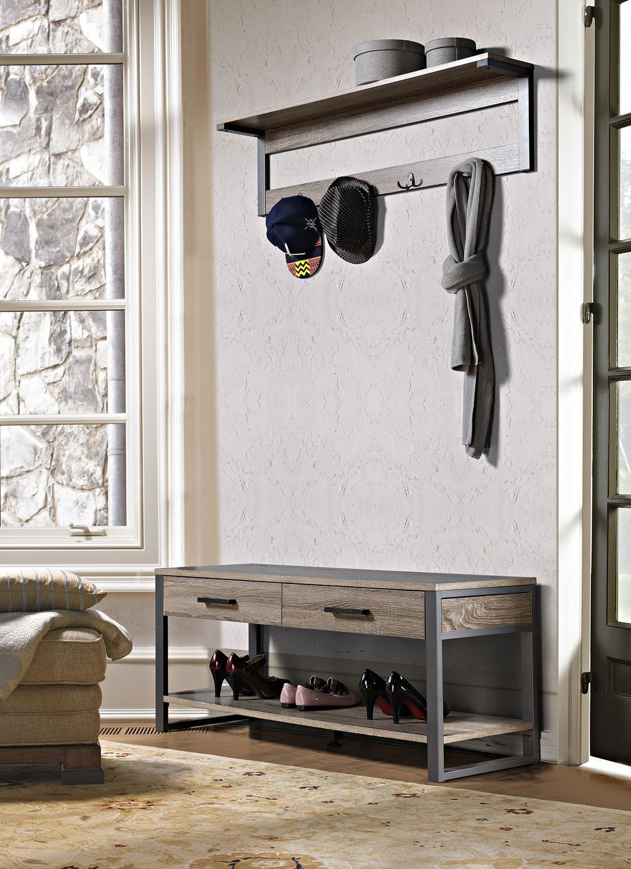 homestar 1 shelf 4 hook wall mounted entry way coat rack