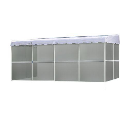 kay home 8 6 x 17 1 white screened enclosure