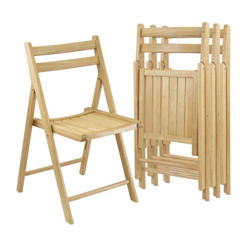 chaises pliantes en bois dur naturel de winsome