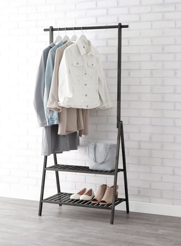 mainstays wood garment rack