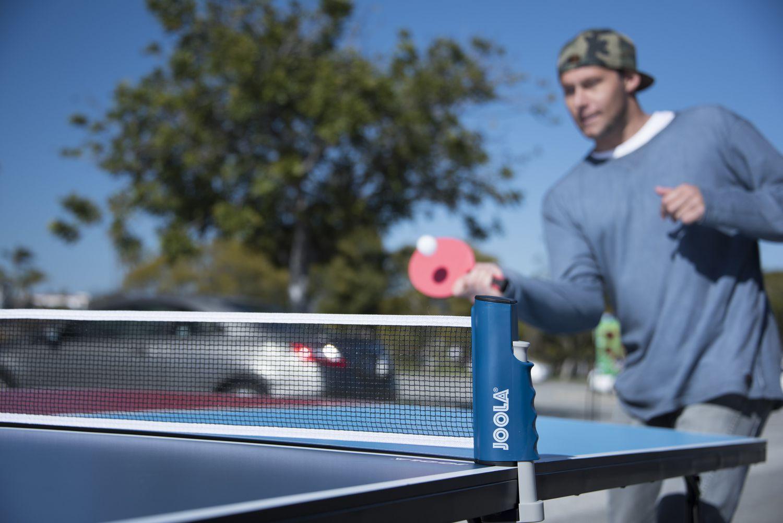 filet de tennis de table portatif et retractable joola a longueur reglable