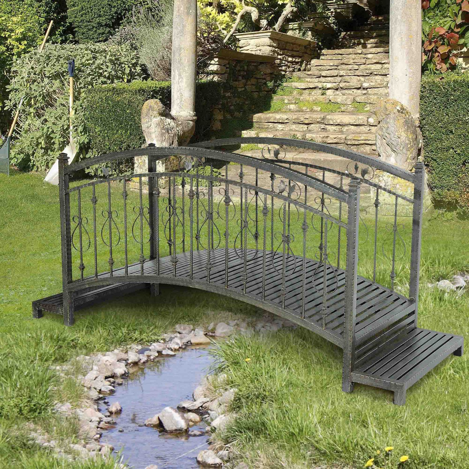 Sunjoy Garden Bridge Outdoor Décor | Walmart Canada on Backyard Decor Canada id=59176