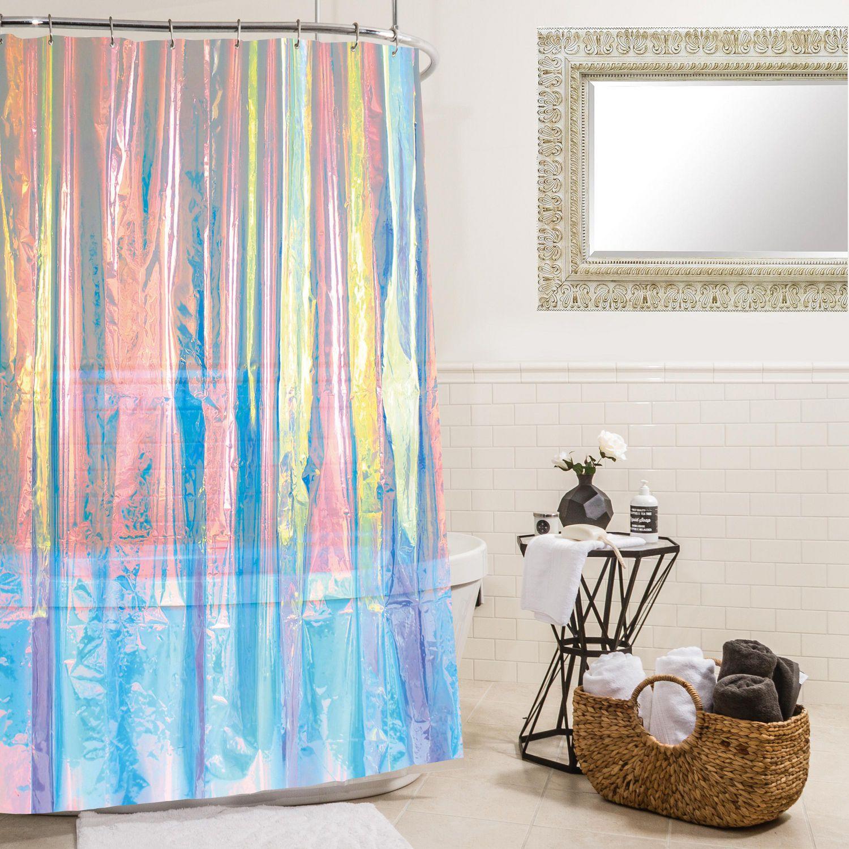 mainstay peva shower curtain sixties iridescent