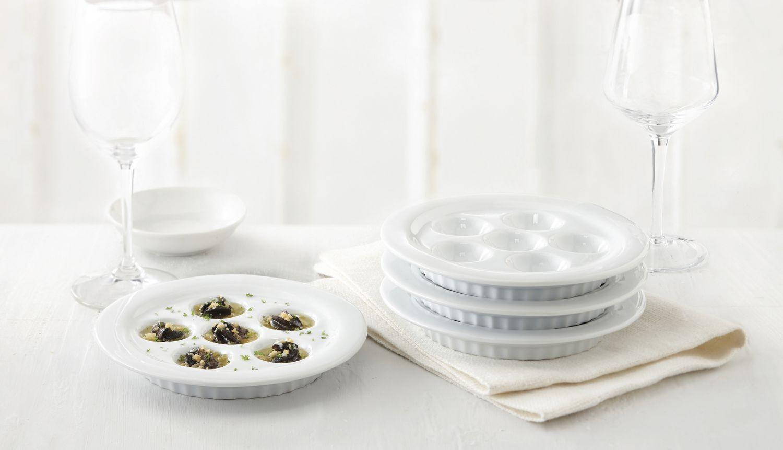 trudeau maison ensemble de 4 assiettes a escargots
