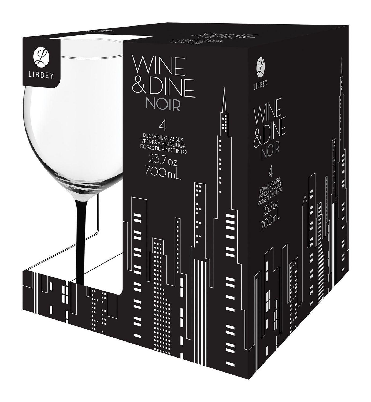 verres a vin rouge wine dine noir de libbey