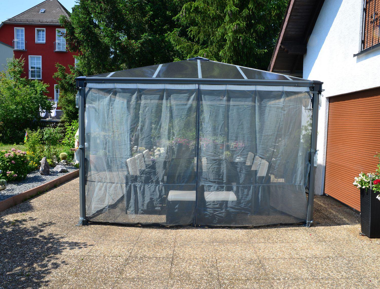ensemble de moustiquaires pour pavillon de jardin palermo de palram 703127