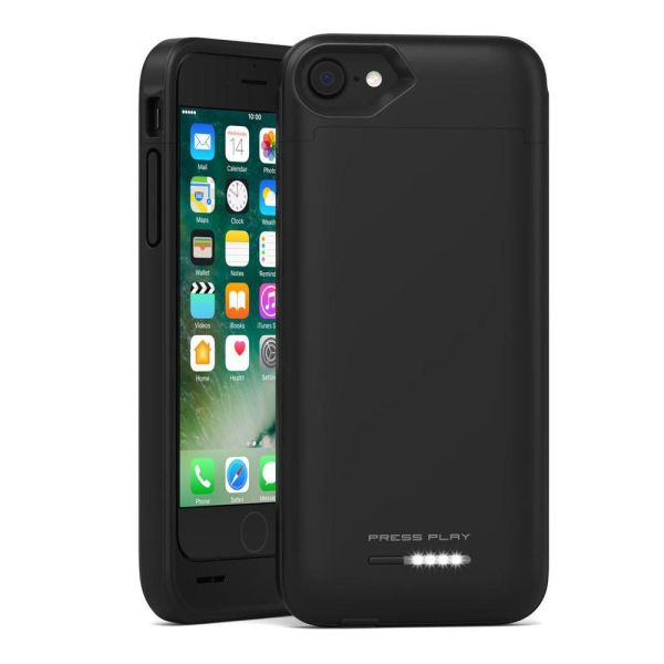 Press Play iPhone 7 Battery Case Nero iPhone Portable ...