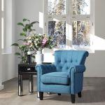 Topline Home Furnishings Navy Accent Chair Walmart Canada