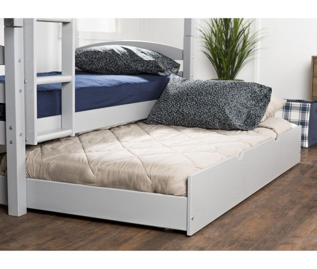 Manor Park Solid Wood Twin Trundle Bed Frame With Wheels Multiple Finishes