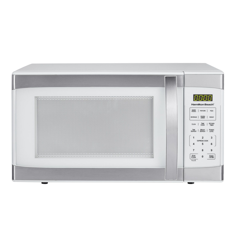 hamilton beach 1 1 cu ft white stainless microwave
