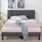 Zinus Lottie Upholstered Square Stitched Platform Bed With Wooden Slats Walmart Canada
