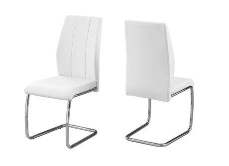chaises de salle a manger monarch specialties en blanc