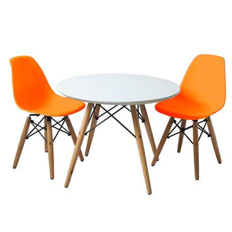 enfants eiffel chaises et ensemble de table en orange