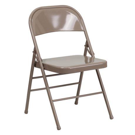 chaise pliante de la collection hercules de flash furniture en metal beige