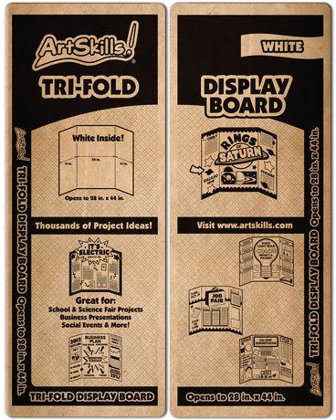 artskills small trifold display board