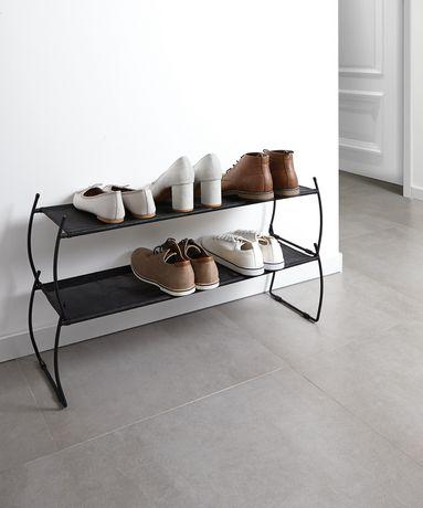 umbra imelda range chaussures imelda metal et tissu noir dimension 81 3x22 9x44cm