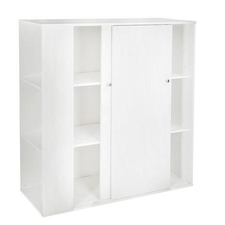 meuble de rangement avec portes coulissantes blanc solide collection storit de meubles south shore walmart canada