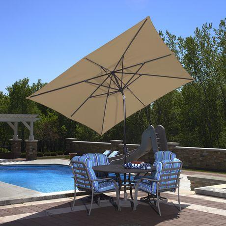 parasol rectangulaire de style marche de 2 4 x 3 m 8 x 10 pi de couleur pierre caspian d island umbrella