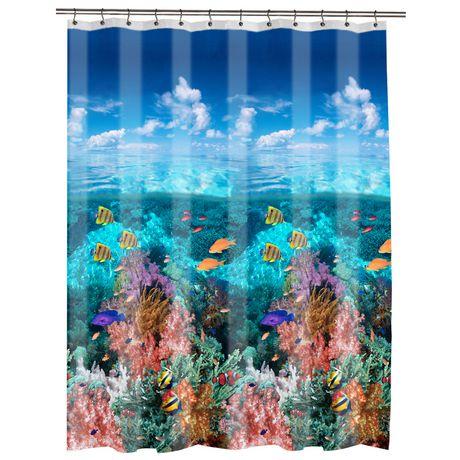 under the sea peva shower curtain