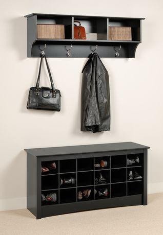 Shoe Storage Cubbie Bench Black Walmart Ca
