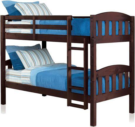 mainstays twin twin wood bunk bed espresso walmart ca on walmart bedroom furniture clearance id=22486
