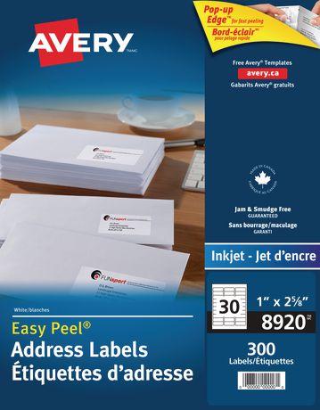 avery address labels