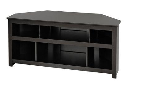 console d angle vasari pour ecran plat plasma lcd en noir