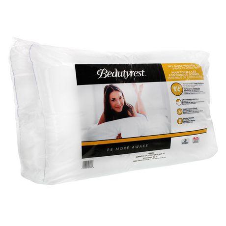 beautyrest 2 pack bed pillows