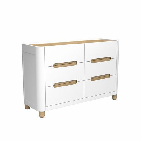 Storkcraft Commode 6 Tiroirs Roland BlancNatural