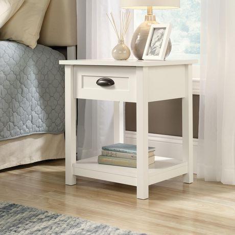 sauder soft white finish nightstand walmart canada on walmart bedroom furniture clearance id=83296