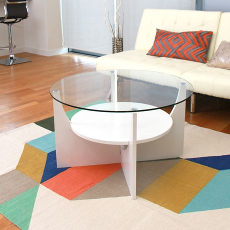 u shaped contemporary coffee table by lumisource