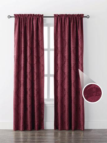 Mainstays Damask Single Window Curtain Walmart Canada