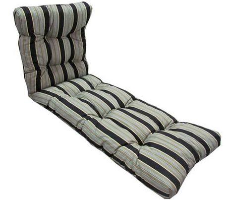 coussin de chaise longue henryka en noir