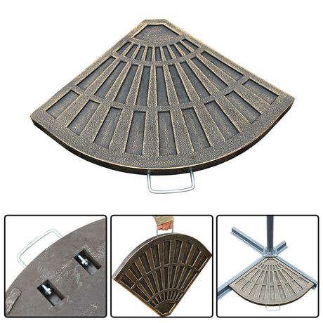 outsunny 2pc umbrella base weights