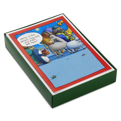 Hallmark Shoebox Funny Manger Scene Boxed Christmas Cards