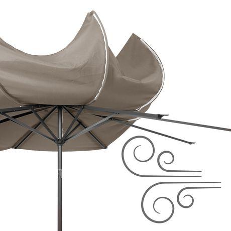 Parasol Inclinable CorLiving De 10 Pi En Gris Rsistant Au