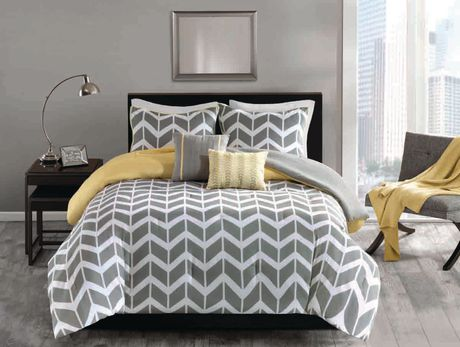 hometrends chevron 5 pieces comforter set double queen on walmart bedroom furniture clearance id=73684