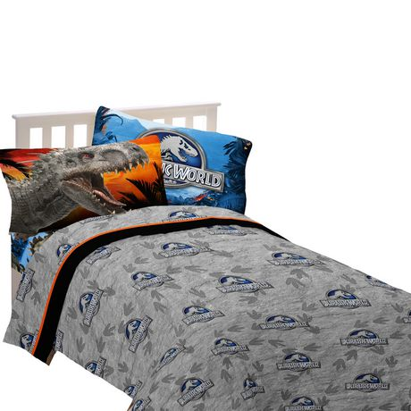 Ensemble De Draps Pour Lit Une Place Attraction Dino
